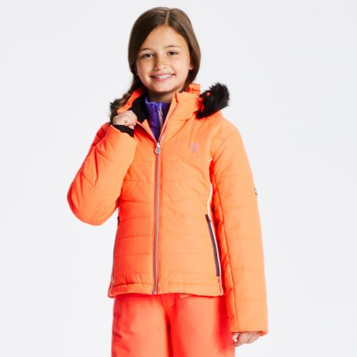 Girls' Predate Ski Jacket Fiery Coral